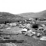 The first sight seen by the photographer as he entered Khirbet Tana was the remains of a tin-roofed home.