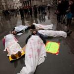 Die-In in Trafalgar Square to remember Gaza