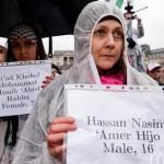 Demonstrators die-in in Trafalgar Square to remember Gaza