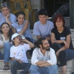 Eva Novakova with the Hannoun family evicted from their house in Sheikh Jarrah