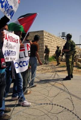 Demonstration in Al-Ma'sara.