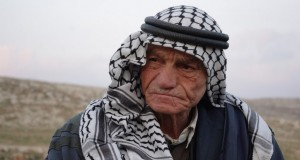 A resident of Khirbet Tana after the demolitions.