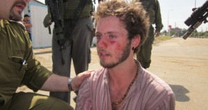 Nonviolent protester after being injured by Israeli soldiers.