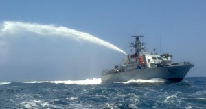 Israeli forces use water cannon