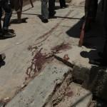 The spot where Ibrahim Omar Serhan was shot.