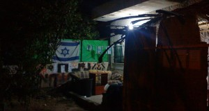 Illegal, Zionist settlers have decorated the Al Kurd home with Israeli flags.