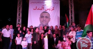 Palestinians in Bethlehem are protesting in solidarity with Chris who is deported to Gaza