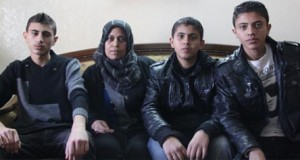 Majda al-Nadeem with her sons Mohannad, Firas, and Bashar (Photo: Palestinian Centre for Human Rights)