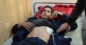 Muhammad al Zaitoni, 22, rests in al Shifa Hospital | Photo courtesy of Rosa Schiano