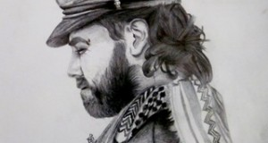 My drawing of Vittorio Arrigoni