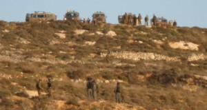 Soldiers on the hills overlooking Urif