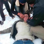 Qusra villager collapses due to tear gas inhalation
