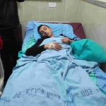 Ammar awaiting his operation in hospital