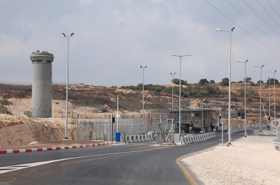 Checkpoint at the entrance of Beit Iksa