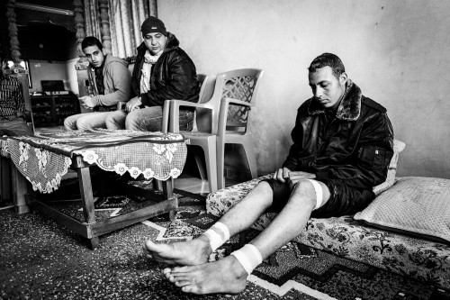 19 year-old law student Anwar Al-Malouk from Gaza City shot