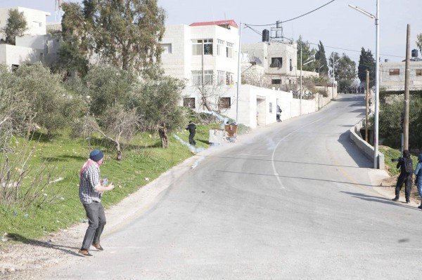 Tear gas in the village of Nabi Saleh