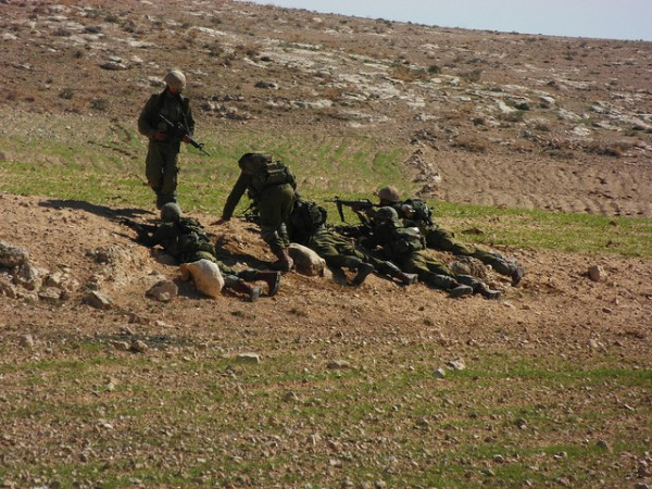 Soldiers exercising near Jinba and Mirkez villages