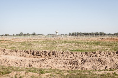 Damaged farmland near the border, photo by Desde Palestina