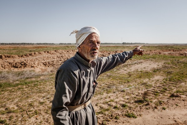 A farmer from Khuza´a, photo by Desde Palestina