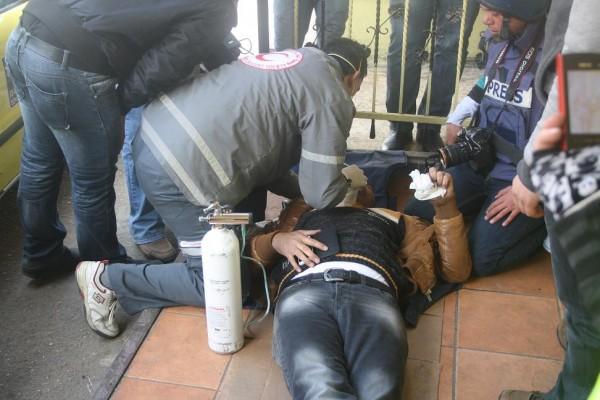 Journalist treated for teargas inhalation