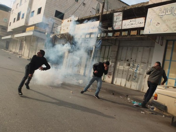 Teargas is fired at demonstrators