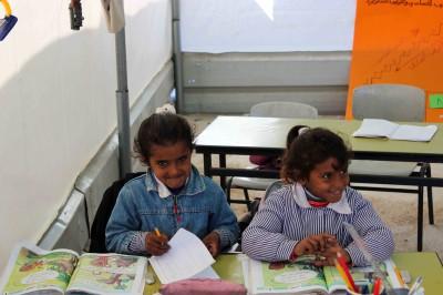 Bedouin girls at school