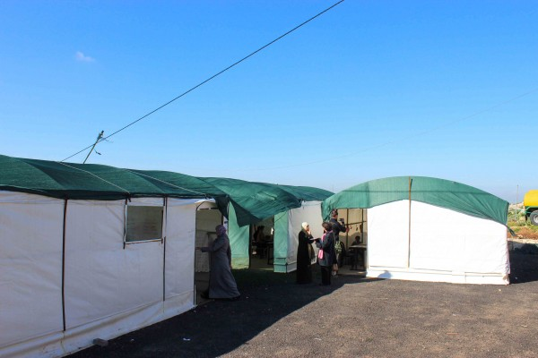 Bedouin school tents with demolition order