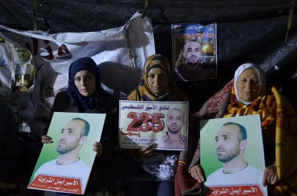 Hunger strikers in Hebron
