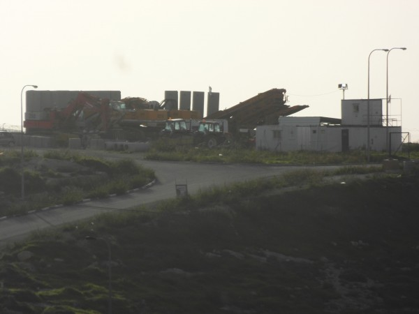 Anti-missile launchpad near village