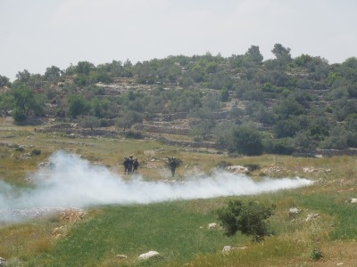 Teargas shot at peaceful demonstrators