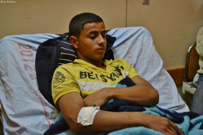 Jamil in hospital - photo by Rosa Schiano