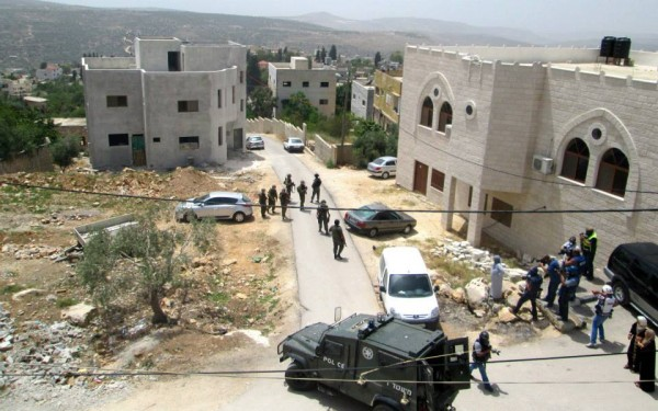 Israeli army and Border Police invade Kufr Qaddum during the protest (Photo by IWPS)