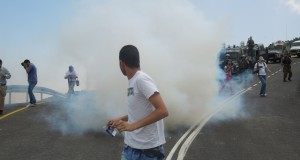 Tear gas fired at peaceful demonstrators