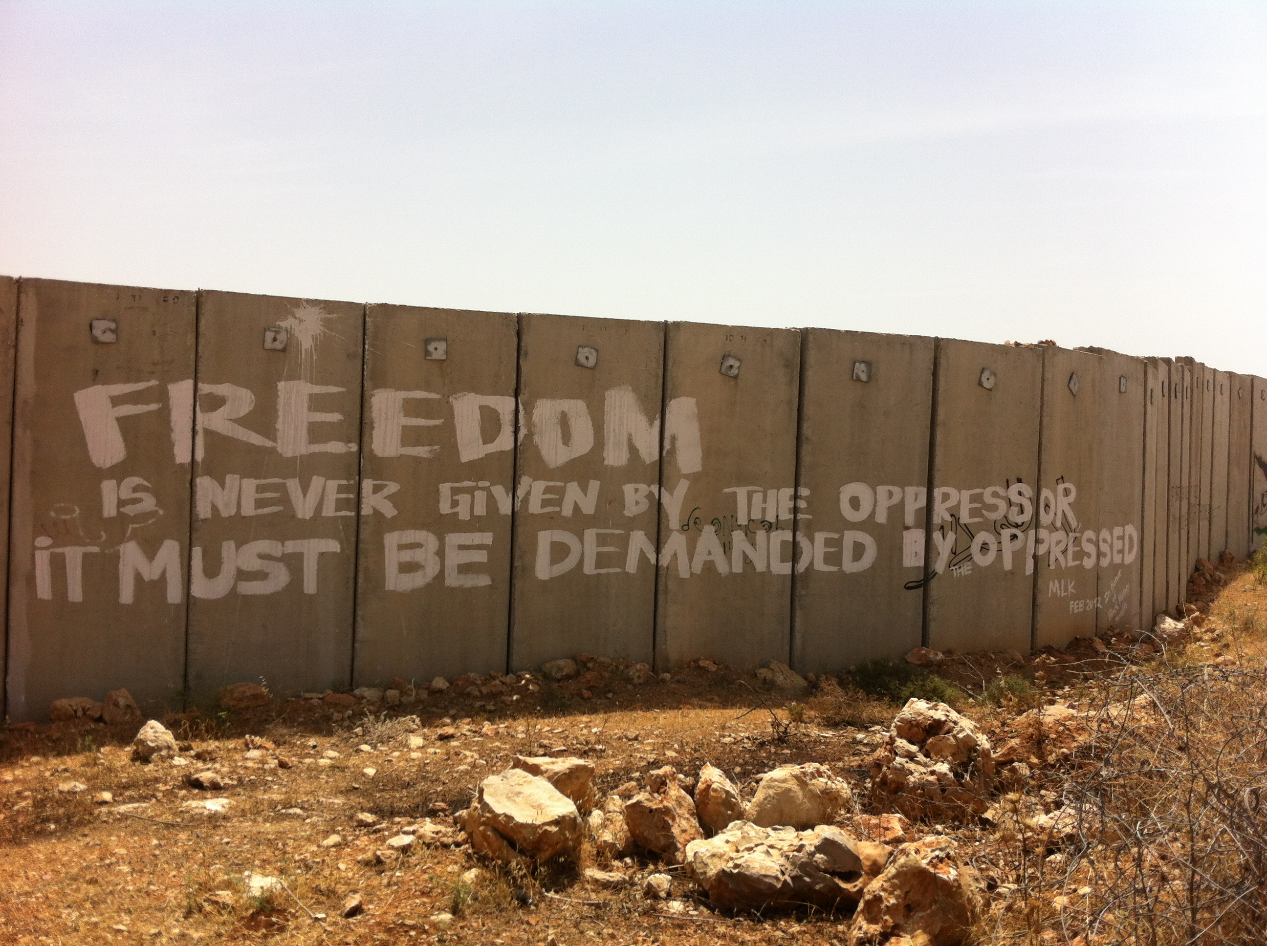 photo essay gas frisbees and the apartheid wall in ni lin  quote by martin luther king on the apartheid wall