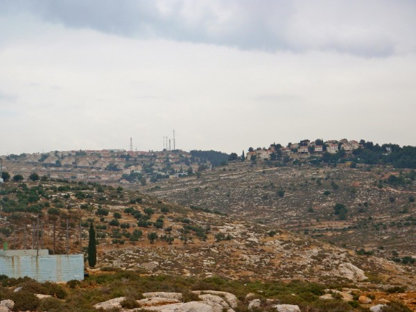 View of Elon Moreh settlement from Azmut village