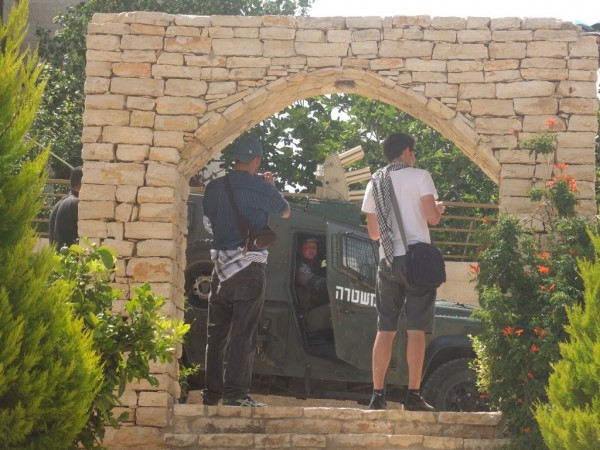 Israeli border police patrol village long after demonstration has ended