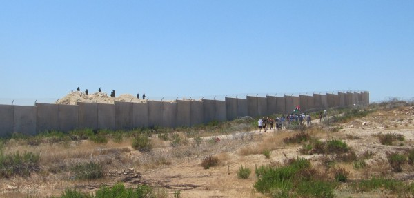 Protest against the wall in Bil'in.