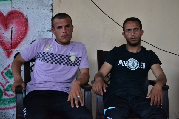 The two fishermen arrested, Khader Marwan Al-Saidi, 24, and Hassan Ali Murad, 27 years old (Photo: Rosa Schiano)
