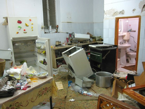 Destroyed kitchen (Photo by ISM)