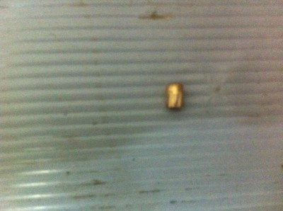 Live bullet shot at YAS house (Photo by activists)