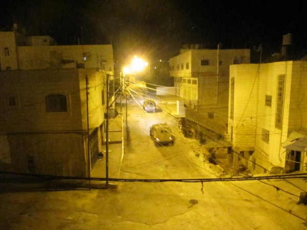 Israeli military in H1 area (Photo by ISM)