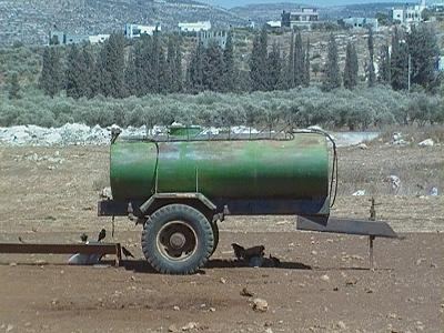 Water tank required to bring water to the Bedouin camps