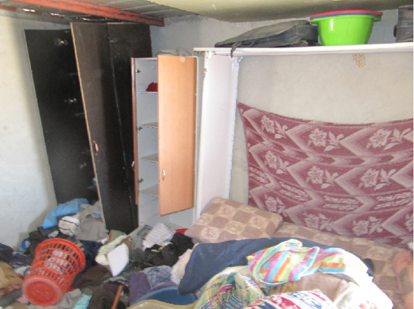 Home ransacked by the Israeli forces (Photo by ISM)