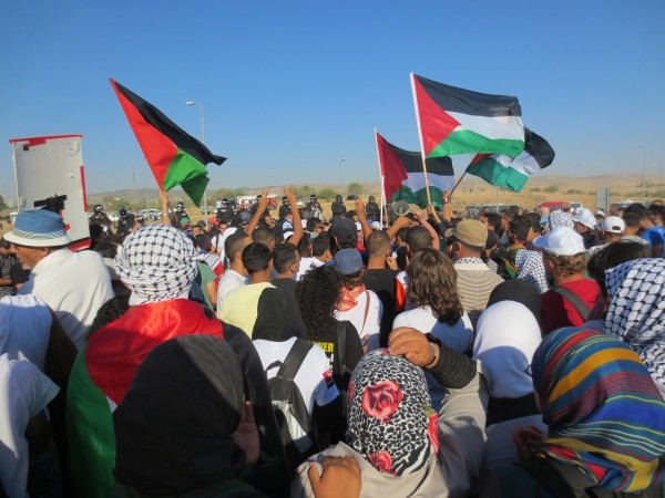 Demonstration in the Naqab, (Photo by ISM)