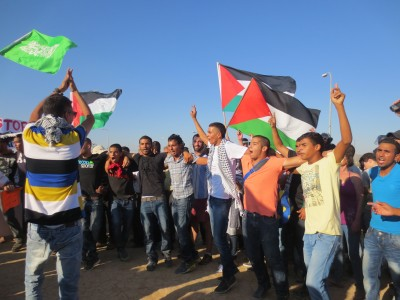 Protest chanting at the demonstration in the Naqab (Photo by ISM)