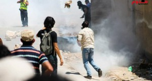 Tear gas spread throughout the village