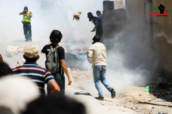 Tear gas spread throughout the village