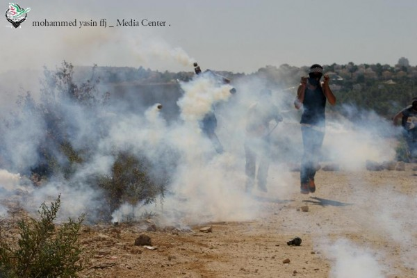 Demonstrators overwhelmed with tear gas (Photo by Mohammed Yasin)