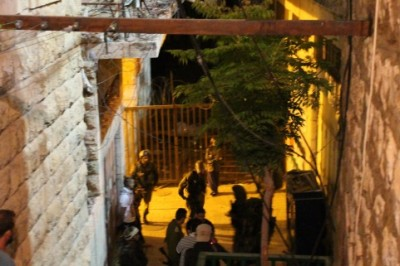 Israeli soldiers at the Sider family home after the violent incident occurred
