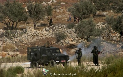 Israeli forces and Bil'in demonstratiors